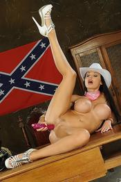 Aletta Ocean Naughty American Cowgirl Gets Nude 13