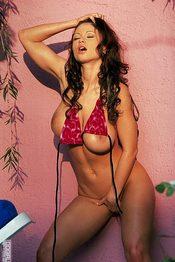 Busty Brunette Slips Off Her Hot Bikini 14