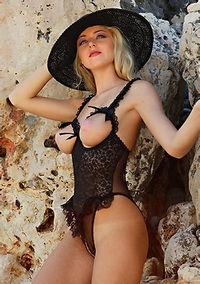 Blonde Girl Tatiana In Hot Lingerie