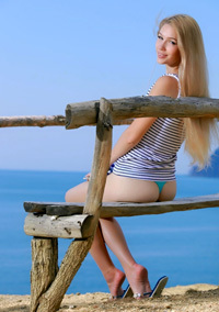 Hot Teen Genevieve Gandi By The Sea