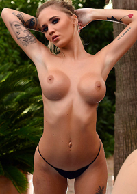 New Beauty Che Mcsorley In Sexy Black Lingerie